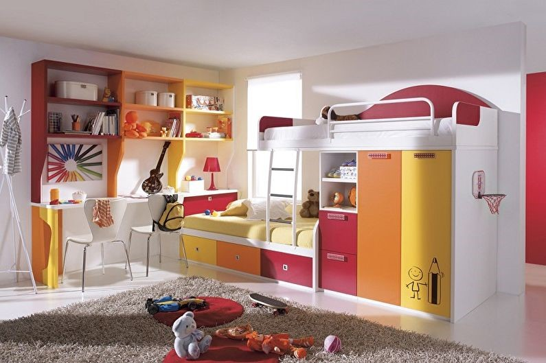 как разделить детскую комнату на двоих