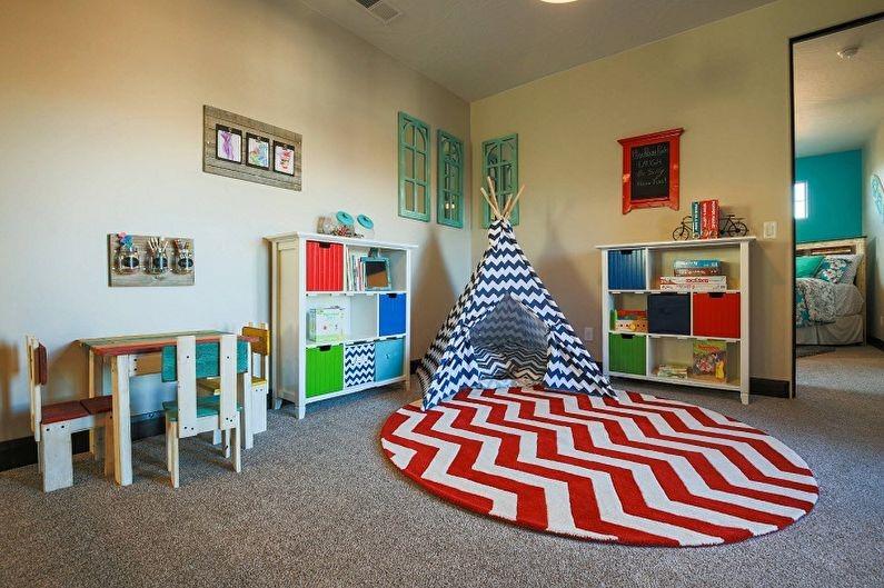 деление детской комнаты на две зоны