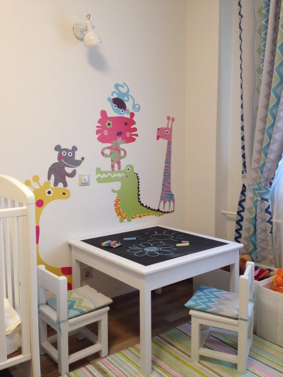 как разделить детскую комнату на зоны