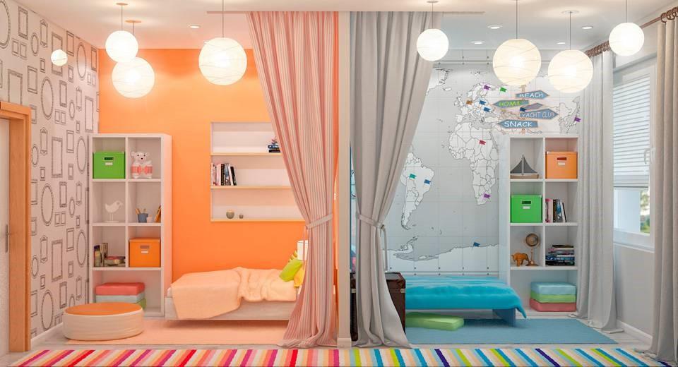 детская комната поделенная на зоны фото