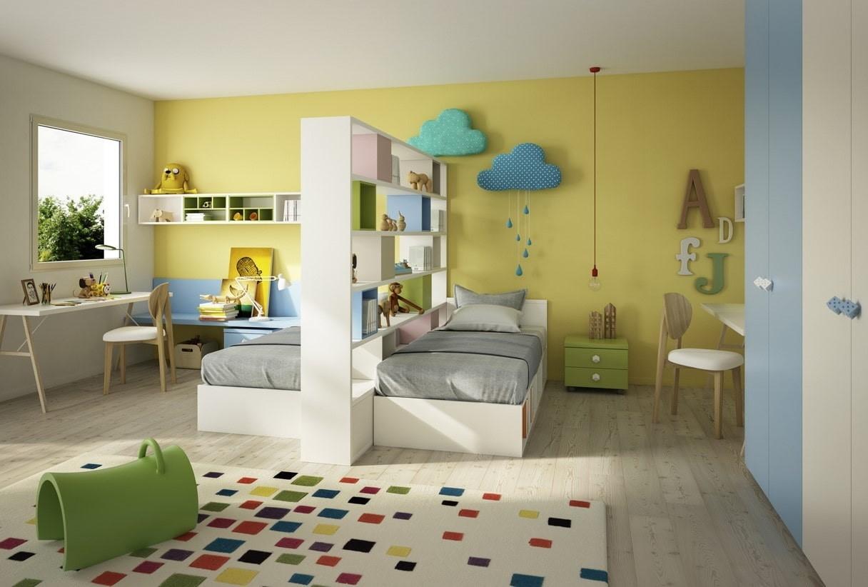 детская комната разделение на зоны мальчик девочка