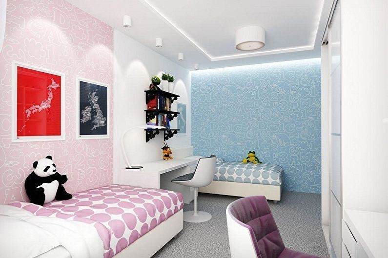 детская комната для детей по зонам