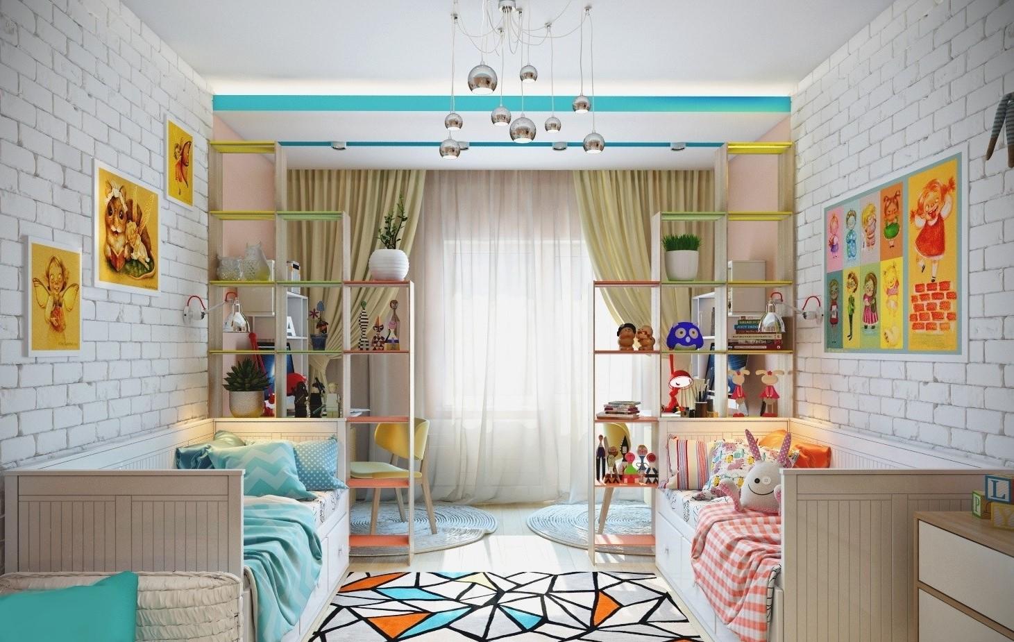 детская комната на 2 ребенка