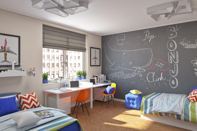 детская комната для детей разного возраста