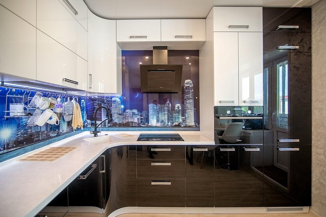 как сделать диодную подсветку на кухне