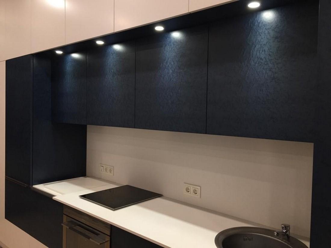 монтаж подсветки кухни
